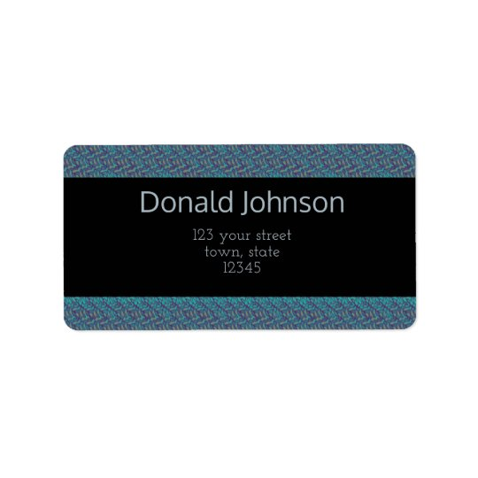 Male Elegant Business Blue Boss Professional Label