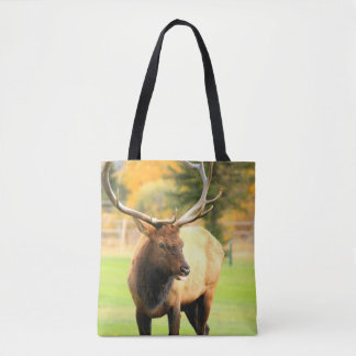 Male Elk With Tongue Out Tote Bag