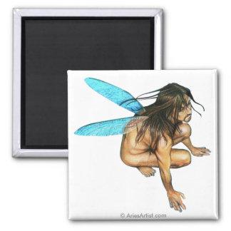 male faerie square magnet