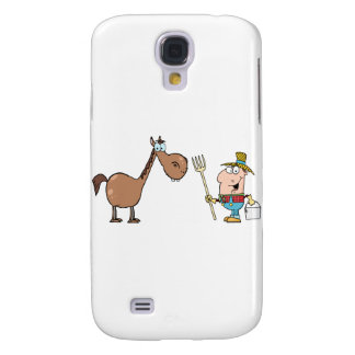 Male Farmer With Horse Samsung Galaxy S4 Covers