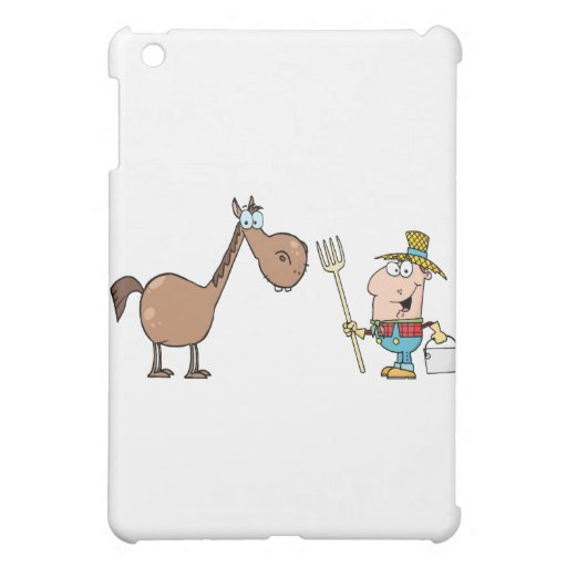 Male Farmer With Horse Cover For The iPad Mini
