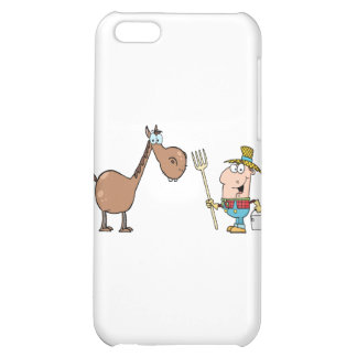 Male Farmer With Horse iPhone 5C Cases