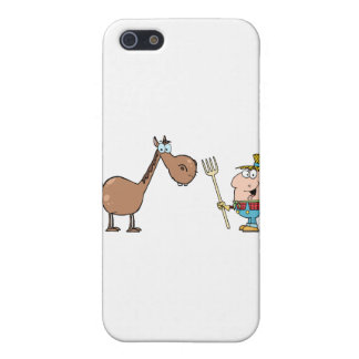 Male Farmer With Horse iPhone 5 Case