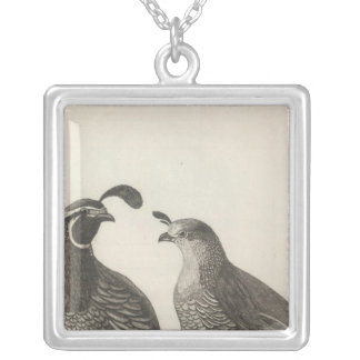 Male & Female Partridge of California Silver Plated Necklace