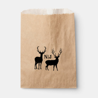 Male Female Rustic Deer Wedding Personalized Favor Favour Bags