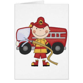 Male Firefighter T-shirts and Gifts Card