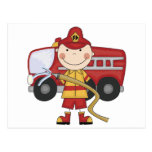 Male Firefighter T-shirts and Gifts Postcard