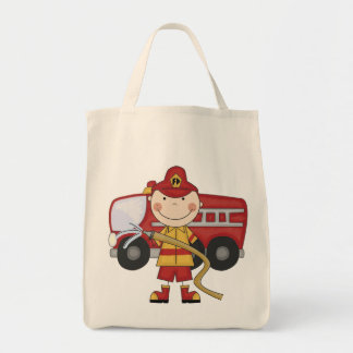 Male Firefighter T-shirts and Gifts Tote Bag