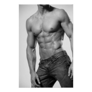 Male Fitness Model In Jeans Poster 8899