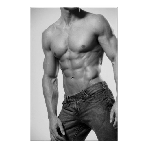 Male Fitness Model In Jeans Poster #8899