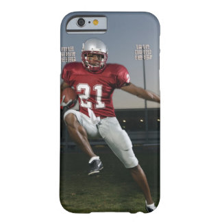 Male football player carrying football barely there iPhone 6 case