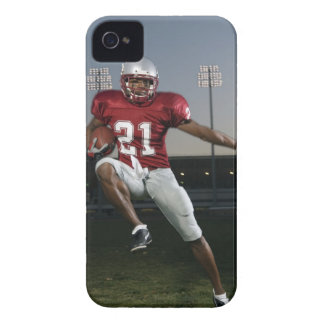 Male football player carrying football iPhone 4 Case-Mate cases