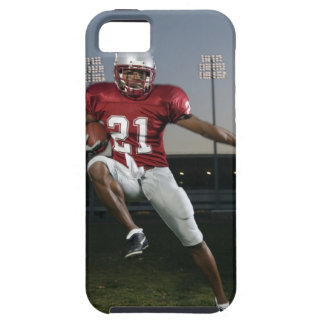 Male football player carrying football iPhone 5 case