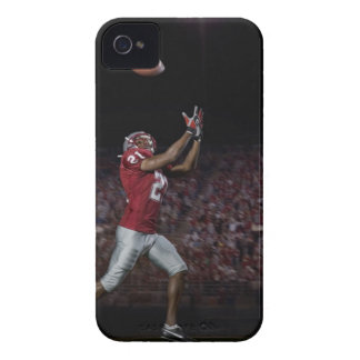 Male football player catching football Case-Mate iPhone 4 cases