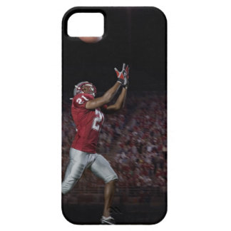 Male football player catching football iPhone 5 cases