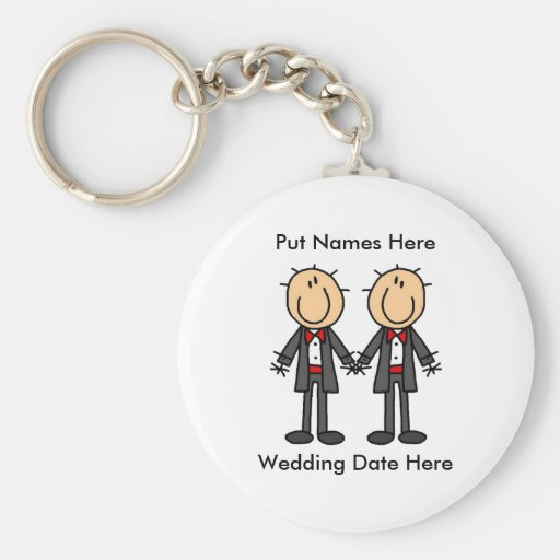 Male Gay Wedding To Customise Key Chains