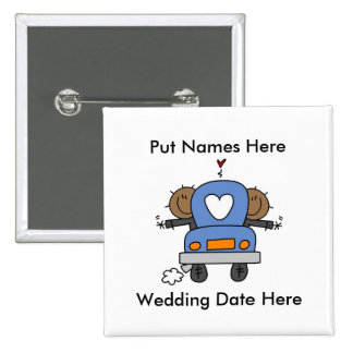 Male Gay Wedding To Customize Pinback Buttons