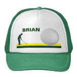 Male Golf hat customisable