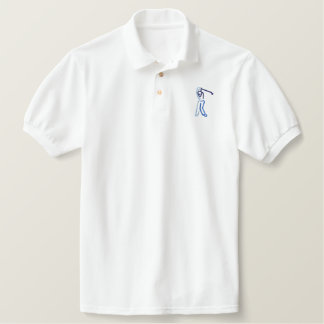 Male Golfer Embroidered Shirts
