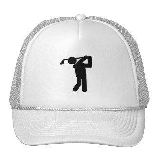Male Golfer - Golf Symbol Trucker Hat