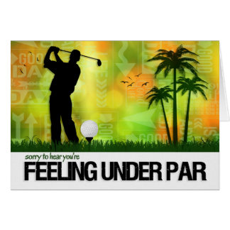 Male Golfer Sports Theme Get Well Card