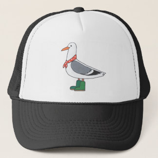 Male Gull - Scarf and Boots Trucker Hat