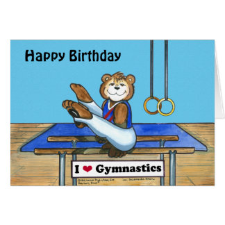 Male Gymnast Birthday Card