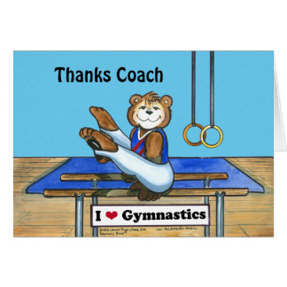 Male Gymnast Greeting Card