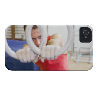 Male gymnast on rings iPhone 4 Case-Mate case