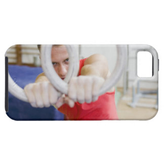 Male gymnast on rings iPhone 5 covers