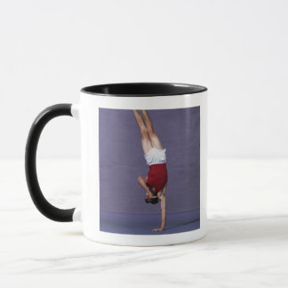 Male gymnast performing on the floor exercise 2 mug