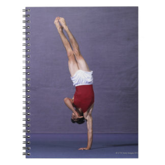 Male gymnast performing on the floor exercise 2 notebook