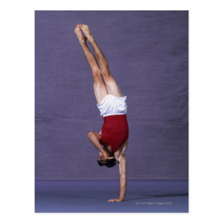 Male gymnast performing on the floor exercise 2 postcard