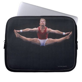 Male gymnast performing on the floor exercise laptop sleeve