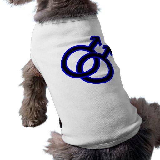 Male Homosexual Symbol Doggie Tee Shirt