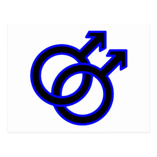 Male Homosexual Symbol Postcard