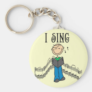 Male I Sing T-shirts and Gifts Key Chain
