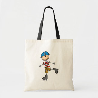 Male In-Line Skating Tshirts and Gifts Tote Bag