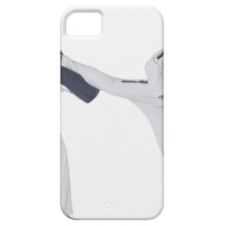 Male karate instructor teaching martial arts to 2 barely there iPhone 5 case