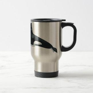 Male Killer Whale Travel Mug