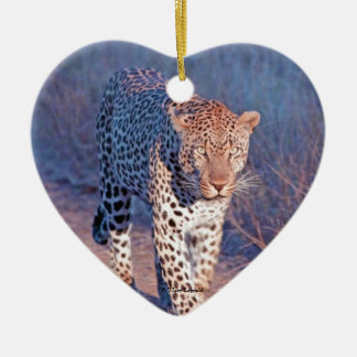 Male Leopard Christmas Ornament