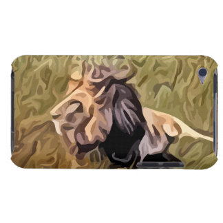 male lion painting barely there iPod case