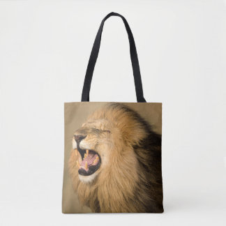Male Lion Roaring Tote Bag