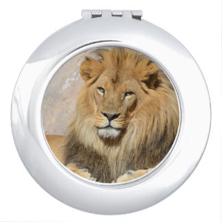 Male Lion Travel Mirrors