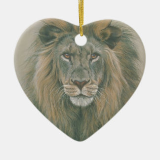 Male Lion With Beautiful Mane Christmas Ornament