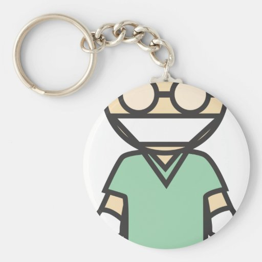 Male Medical Surgeon Key Chains