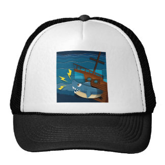 Male mermaid holding trident cap