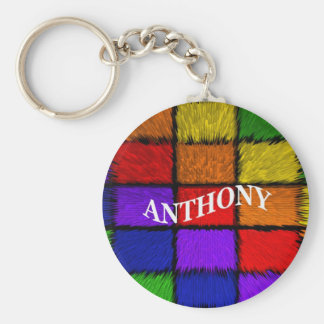 MALE NAMES (Anthony) Basic Round Button Key Ring