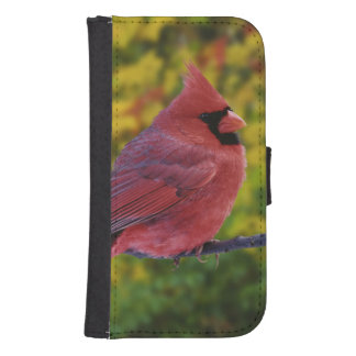 Male Northern Cardinal in autumn, Cardinalis Samsung S4 Wallet Case