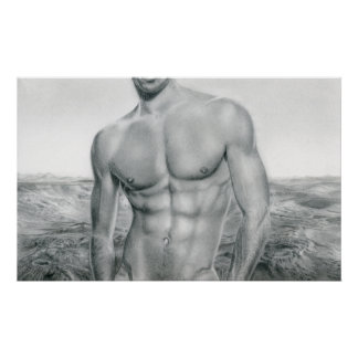 Male nude 20 poster
